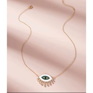 Eye Charm Chain Necklace Gold